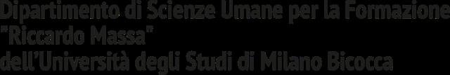 """Dipartimento di Scienze Umane per la Formazione """"Riccardo Massa"""""""